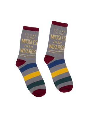 Large socks 1020 books turn muggles into wizards harry potter alliance book socks 01 1800x1800