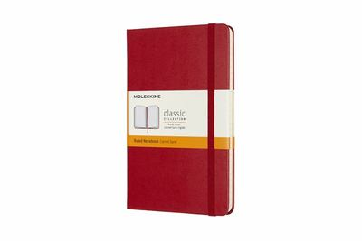 Classic Hard Cover Notebook Ruled Medium Red Moleskine