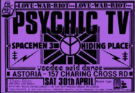Psychic TV Spacemen 3 Gig Poster Print