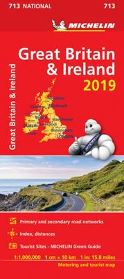 Map Great Britain and Ireland 2019