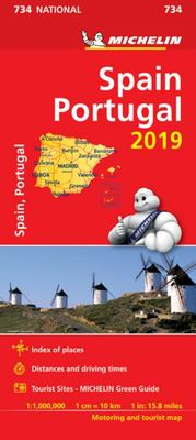 Map Spain and Portugal 2019