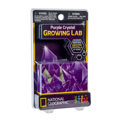 Purple Crystal Growing Lab (National Geographic)
