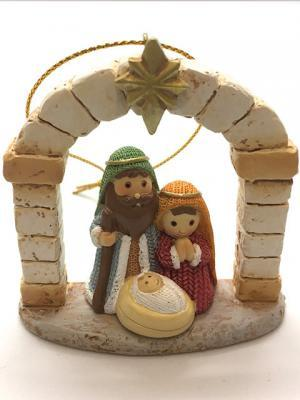 Nativity Scene: Holy Family with Arch Miniature