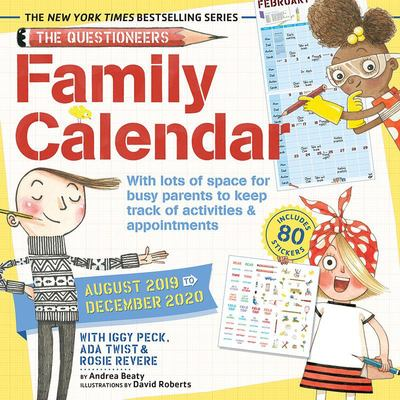 Iggy, Rosie and ADA Family Planner 2019 Wall Calendar