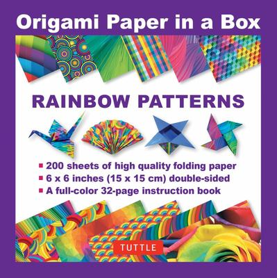 Rainbow Patterns - 200 Sheets of High Quality Folding Paper