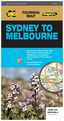 Sydney to Melbourne Map 245 - 6th Edition