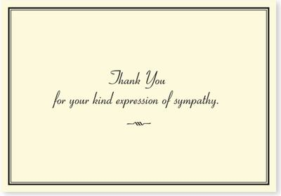 Sympathy Thank You Notes pk14 (6289)