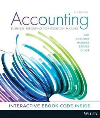 Accounting: Business Reporting for Decision Making 6th Ed Print & E-Text