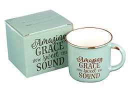 Mug Camp Style Amazing Grace Green/White