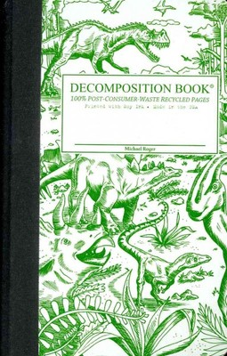 Dinosaurs Pocket Ruled Decomposition Notebook
