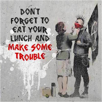 Large banksy anarchist and mother