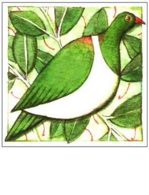 Wood Pigeon Mini Card