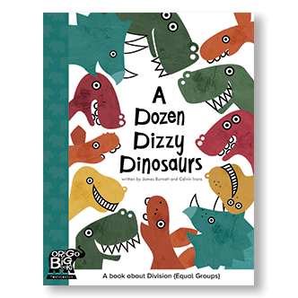 A Dozen Dizzy Dinosaurs Big Book - A Book about Division ( Equal Groups)