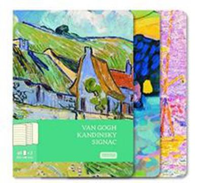 Notebooks Van Gogh, Kandinsky, Signac (Set of 3, Large)