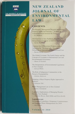 New Zealand Journal of Environmental Law Volume 14
