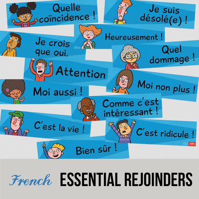 Essential French phrases - wall signs