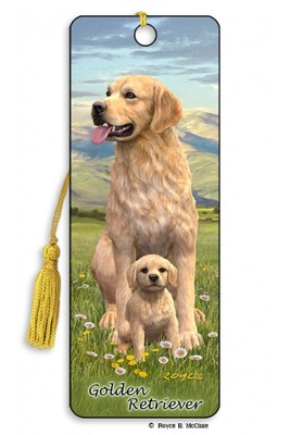 Golden Retriever 3D bookmark