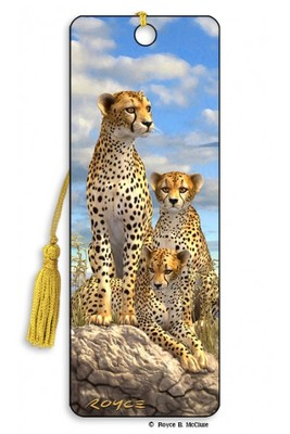Cheetahs 3D Bookmark