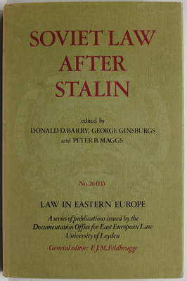 Soviet Law after Stalin Part 2: Social Engineering Through Law