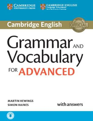 Grammar and Vocabulary for Advanced Book With Answers and Audio : Self-study Grammar Reference and Practice; With Downloadable Audio File