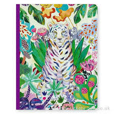 Djeco Notebook: Tiger and flowers 'Martyna'