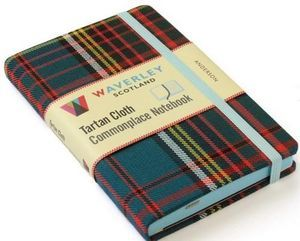 Anderson: Waverley Genuine Tartan Cloth (9cm X 14cm) Pocket Format Commonplace Notebook