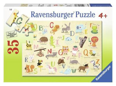 Ravensburger A-Z Animals Puzzle 35pc