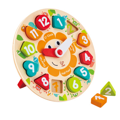 Chunky Wooden Clock Puzzle