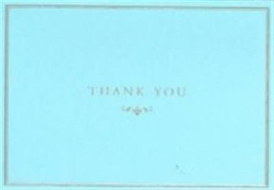 Pale Blue Thank You Notes (pkt of 14)