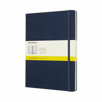 Moleskine Classic Hard Cover Notebook Grid Extra Large Sapphire Blue