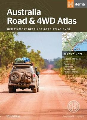 Australia Road & 4WD Atlas Perfect bound 12E
