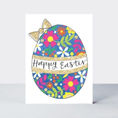 Card - Happy Easter floral egg