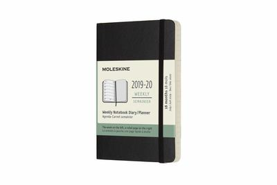 2019-2020 Black Weekly Notebook Pocket Softcover Academic Diary Moleskine