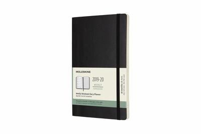 2019-2020 Black Softcover Weekly Notebook Large