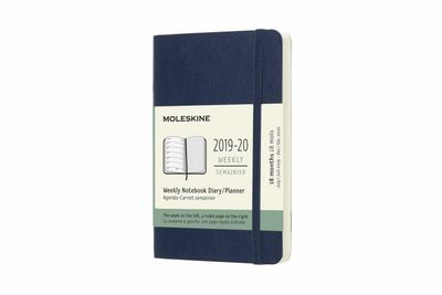 2019-2020 Sapphire Blue Weekly Notebook Pocket Softcover Academic Diary Moleskine