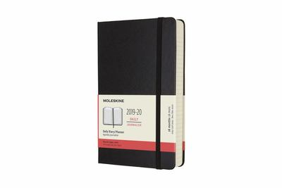 2019-2020 18 Month Hard Cover Diary Daily Large Black