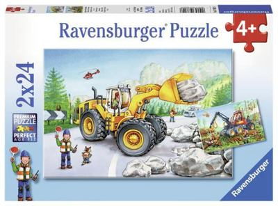 Diggers at Work Puzzle 2x24pcs