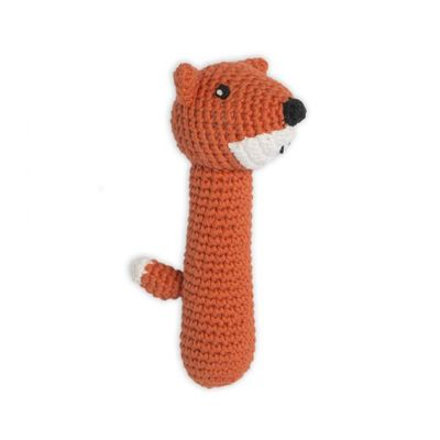 Fierce Fox Crochet Rattle