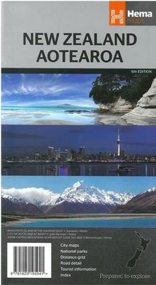 New Zealand Aotearoa Map 6th ed by Hema Maps Staff | Torquay