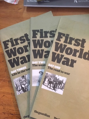 First World War. Day one, Two and Three