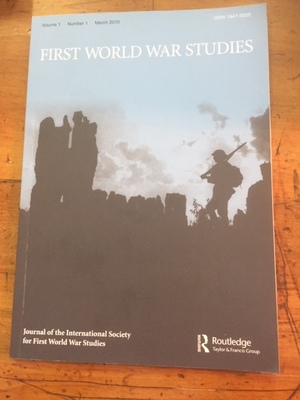 First World War Studies Vol 1, No 1.
