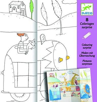 Djeco Hide & Seek: Fun Colouring with Flaps and Surprises