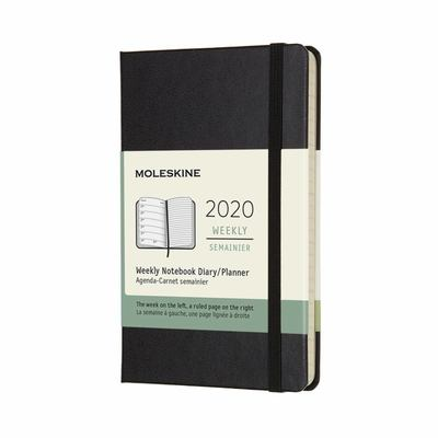 2020 Weekly Notebook Black Pocket Hardcover Diary Moleskine