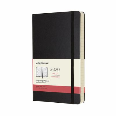 2020 Daily Black Large Hard Diary Moleskine