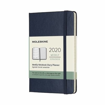 2020 Weekly Notebook Sapphire Blue Pocket Hardcover Diary Moleskine