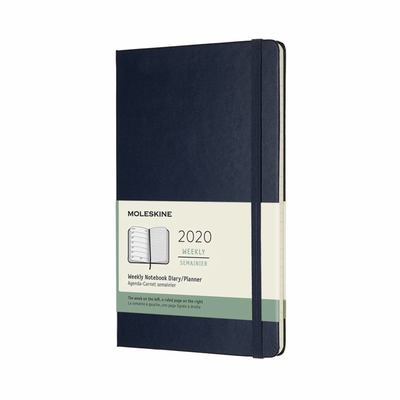 2020 Weekly Notebook Sapphire Blue Large Hardcover Diary Moleskine