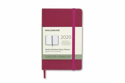 2020 Weekly Notebook Snappy Pink Pocket Hardcover Diary Moleskine
