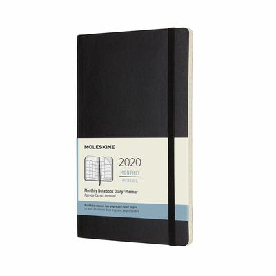 2020 Monthly Black Large Softcover Diary Moleskine