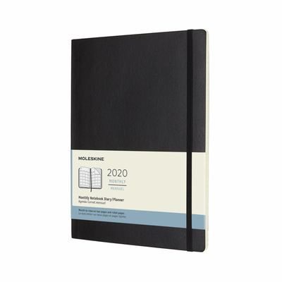 2020 Monthly Black XLarge Softcover Diary Moleskine