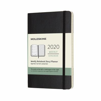 2020 Weekly Notebook Black Pocket Softcover Diary Moleskine